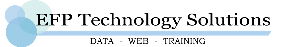 EFP Technology Solutions Logo - Your web, data, and training solutions.